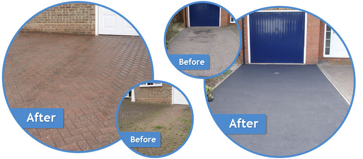 Driveway cleaning and sealing in essex kent and surrey for Driveway cleaning companies